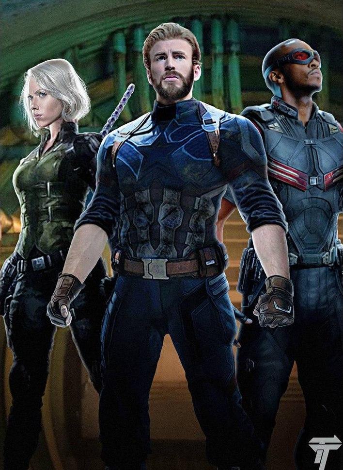 Avengers-infinity-war-art-captain-america-falcon-black-widow-1059610
